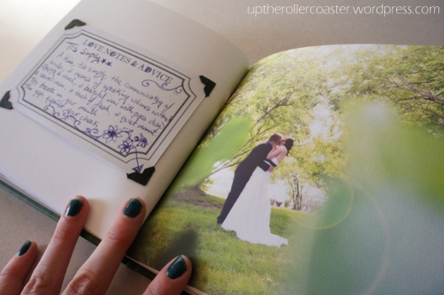 Up the Rollercoaster | DIY Wedding Photobook & Guestbook