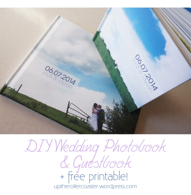 DIY Wedding Photobook & Guestbook + free printable!