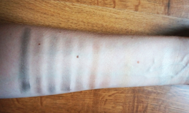 Annabelle Cosmetics Smokey Nudes Eyeshadow Palette - swatches