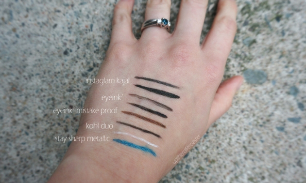 Annabelle Cosmetics Autumn 2015 Launches: Eyeliner Swatches