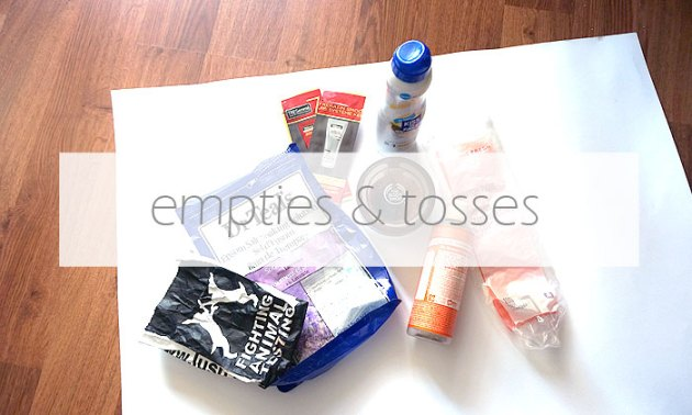 Empties & Tosses: July - October 2015