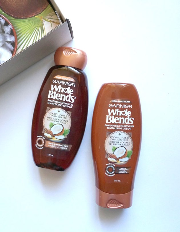 Garnier Whole Blends Smoothing Shampoo and Conditioner | uptherollercoaster.com
