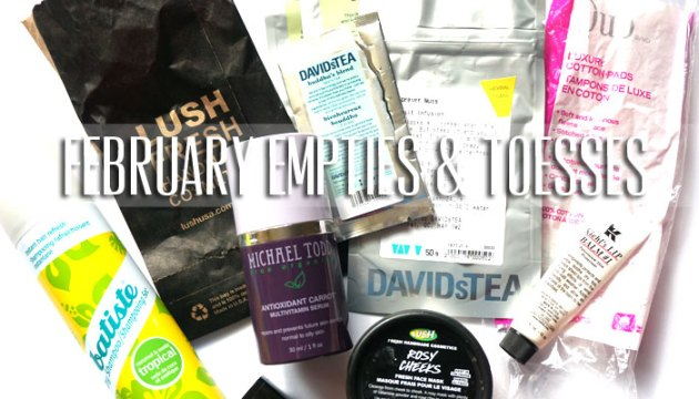 February Empties & Tosses 2016 | uptherollercoaster