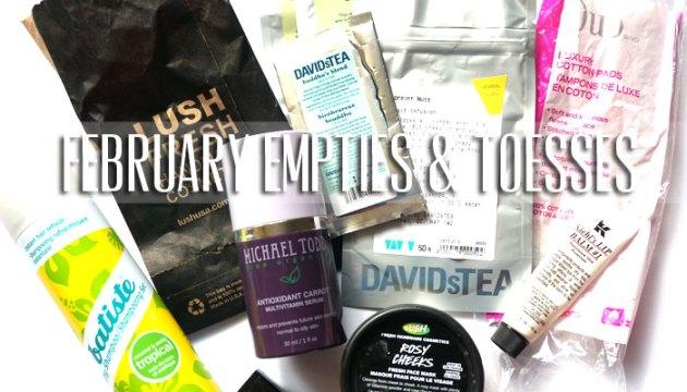 February Empties & Tosses 2016   uptherollercoaster