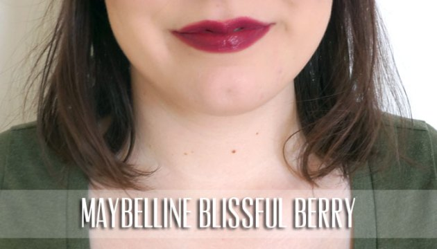 Maybelline Lipstick Swatch - Blissful Berry | uptherollercoaster.com