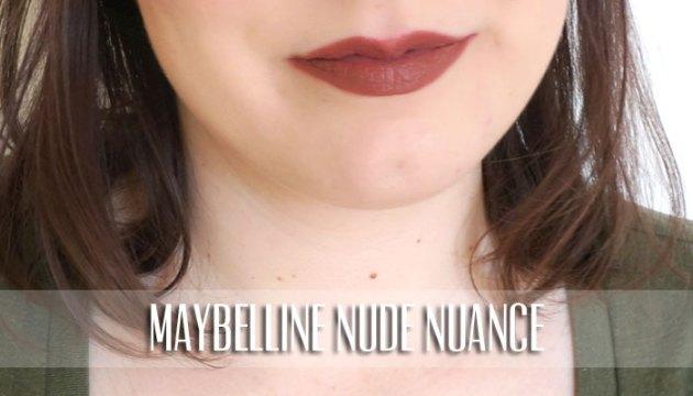 Maybelline Lipstick Swatch - Nude Nuance | uptherollercoaster.com