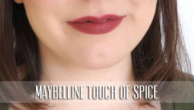 Maybelline Lipstick Swatch - Touch of Spice | uptherollercoaster.com