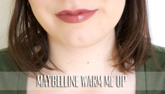 Maybelline Lipstick Swatch - Warm Me Up | uptherollercoaster.com