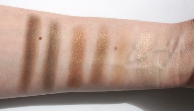 Covergirl TruNaked The Goldens Eyeshadow Swatches | uptherollercoaster.com