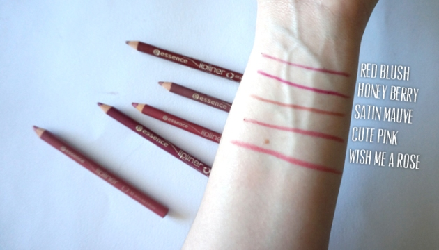 essence Lip Liner Collection: Swatches