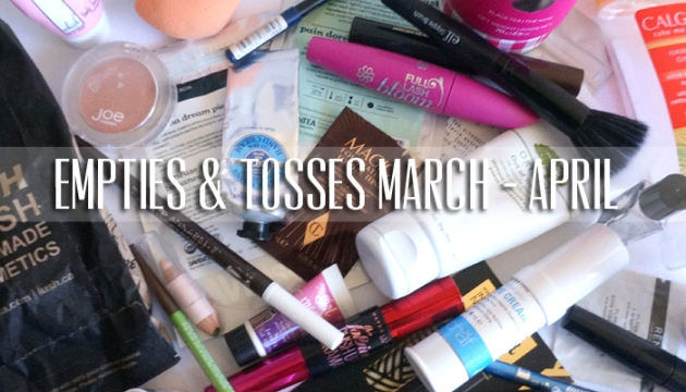 Empties & Tosses: March - April 2016