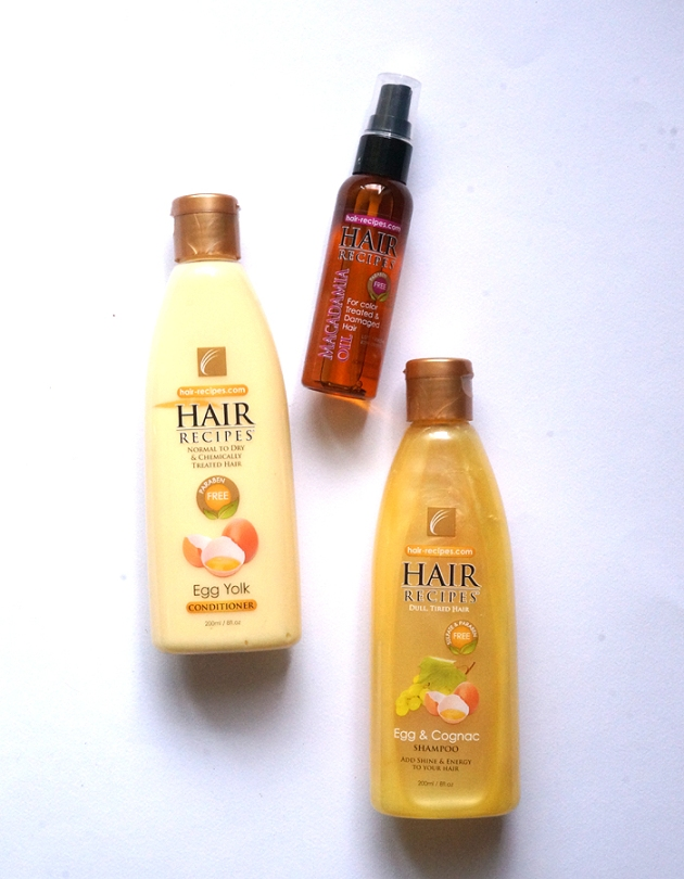 Hair Recipes Egg and Cognac Shampoo Bundle