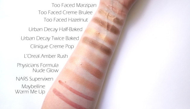 Makeup Collection: Bronze and Gold Swatches | uptherollercoaster.com