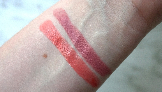 Joe Fresh Lipstick: Coral Shine and Rose Matte | uptherollercoaster.com