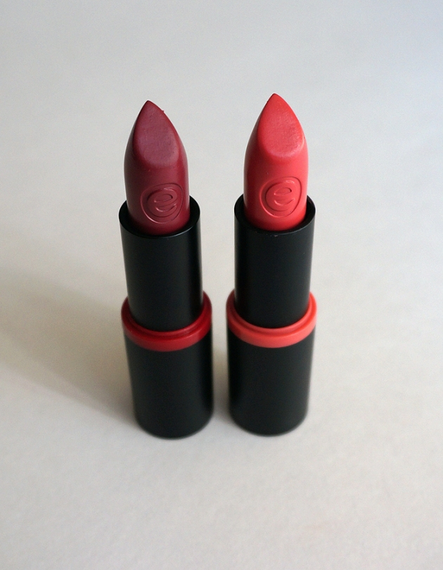 essence Longlasting Lipstick in 04 On the Catwalk! and 01 Coral Calling | uptherollercoaster.com