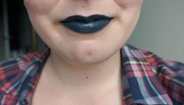 NYX Liquid Suede Cream Lipstick in Stone Fox - Lip Swatch | uptherollercoaster.com