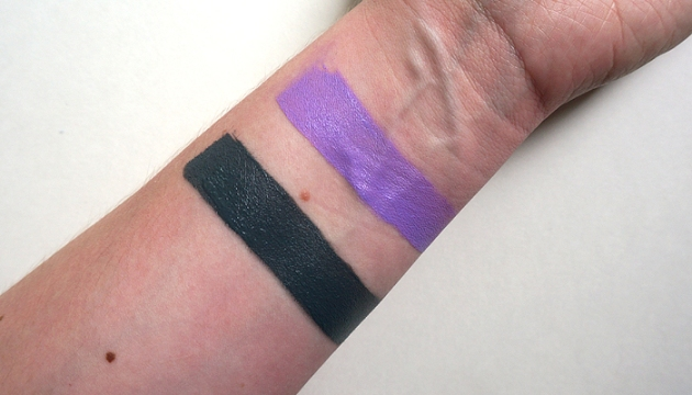 NYX Liquid Suede Cream Lipsticks in Stone Fox and Sway - Swatches | uptherollercoaster.com